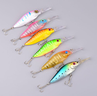6PC fishing tackle 2013 Hot 3D Minnow Lure 6 color 11.7g/11cm High Quality Fishing lure Fishing Bait With 4# Hook Free Ship