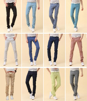 12 Colors 2013 new arrival korean fashion skinny jeans men slim fit leggings denim pants stretchy trousers Free shipping 7 Size