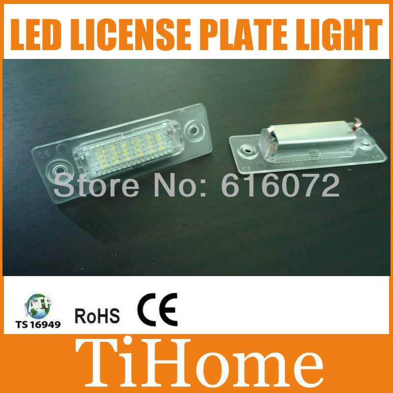 Free Shipping LED LICENSE PLATE LAMP,NUMBER-PLATE LIGHT FOR VW Caddy/Passat 5D/Touran/Transporter/Skoda Superb(China (Mainland))