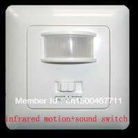 New Security infrared Motion Sensor & Sound Switch Pir Detector(90V/AC-240V/AC)