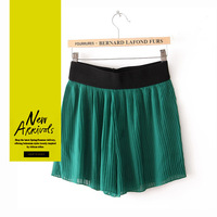 Free Shipping 2013 New Summer Fashion All-match Green Skirts/ Chiffon Skirts/Woman Summer Skirts