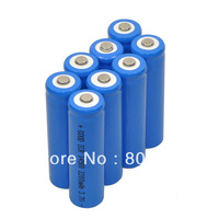 New 8 piece 2200mAh ICR 14500 3.7V AA Rechargeable Li-ion Battery For UltraFire LED Torch