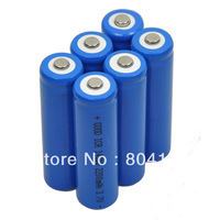 New 6 piece 2200mAh ICR 14500 3.7V AA Rechargeable Li-ion Battery For UltraFire LED Torch