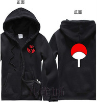 Free Shipping New Anime Naruto Uchiha Sasuke Sharingan Clothing Hooded Sweatshirt Cosplay Hoodie Costume