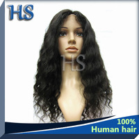 "Free Shipping! Natural Color,Brazilian human hair, beautiful deep wave 8""-28"", 100% human hair Lace Front Wig outlet price"