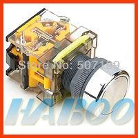 10pcs shipping free dia.22mm machine momentary reset 1NO+1NC metal head pushbutton push button switch
