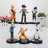 "6PCS/SET Dragon Ball Z 5""Songukou Gogeta Gotenks Action Figure toy"