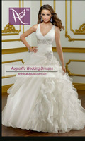 AWL3017 Romantic France Love Forever Suzhou V- neck Tailored Wedding Dress China