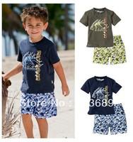 Free Shipping&5pcs/lot!summer 2013 cotton,the overalls,kids summer sets,set boy,korean kids clothes wholesale,clothing sets