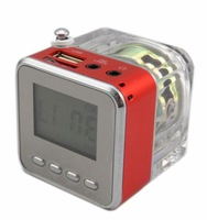 Portable mini speaker for MP3 with FM radio/USB/SD port/alarm/Multi-language TT-029