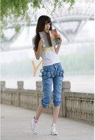 Harem Jeans Cropped Denium Pants High Quality Jeans Shorts for Summer Hottest Fashion Leisure Jeans YS-Linggan-806-1