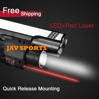 Tactical 200LM LED flashlight with 650mw red laser sight pistol flashlight+Free shipping(SKU12020079)