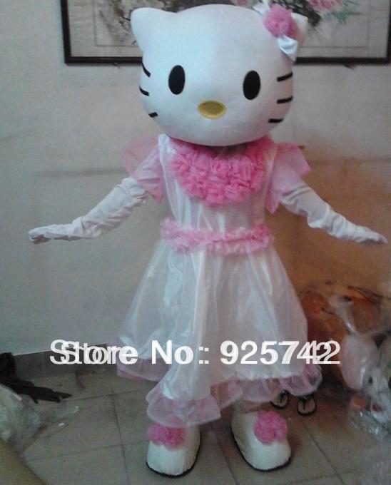 White fine KT cat cartoon doll performing dress up wedding props children export version of cat cartoon costume(China (Mainland))