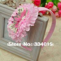 2014 New Kids/Girl/Princess/Babies Flower Hair Headband ,headwear,children hair accessories, 4 color 10pcs/lot FG018