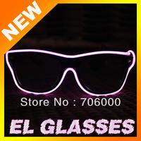 Free shipping10 pcs/lot EL light-emitting glasses, EL cold light glasses EL luminous glasses the fashion toy Party glasses