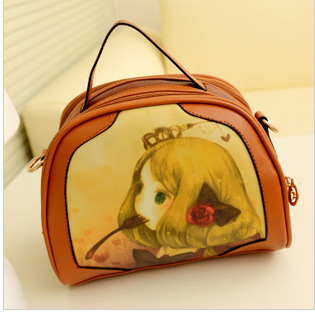 2013 Korean version of the new bags fashion cute portable single diagonal packet the cartoon retro bag woman bag(China (Mainland))