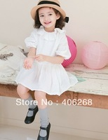 wholesale best quality  retro  baby girl's dress  laciness  princess dress summer children dress 2013 new free shipping