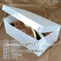 Free shipmet 10 pieces/lot clear white only soft thick transparent shoebox thickening flip shoebox storage box  for man