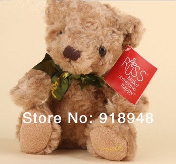 Free shipping RUSS 30cm Teddy Bear bridthday gift Lovely teddy bear toys best price and high quality plush toy 2 color soft toy
