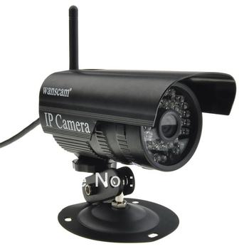 Free shipping Wireless WiFi Outdoor Waterproof Black IR 20M Night Vision Bullet Camera Network night vision Outdoor ip camera