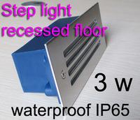 Step light waterproof ip65,KUS217070 12V 24V 110V 220V 3W stainless steel and aluminum square shape for outdoor lighting