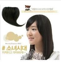 Women's Black,Brown 22cm Synthetic Hair Fringe Side Bangs Headbands,Clip in Bangs Virgin Hair Bundles Drop Shipping