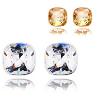 Fashion jewelry  Fashion accessories square Austrian crystal stud earrings - Jane eyre 4600-33