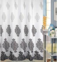 Classic fashion waterproof coating terylene cloth shower curtain 180*180cm