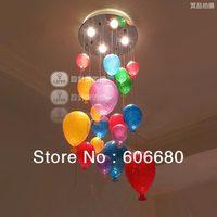 Novelty Colorful Ballon Pendant lights Dining room Living room Lighting Glass lamp + free shipping