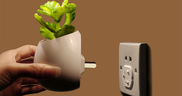 simulation plants potted small night light colorful intelligence controlled energy-saving wall lamp(China (Mainland))