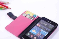High Quality Genuine Leather Case For samsung galaxy R i9103 ,MOQ 1pcs/lot free shipping