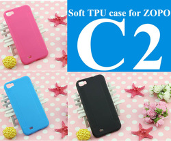 1xGift + 1xScreen protector + 1xProtector Soft TPU cover case for ZOPO C2(Quad core MTK6589 5.0&quot; android phone)Anti-slid design(China (Mainland))