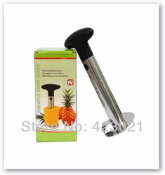 1pc Hot Sale Stainless Steel Fruit Pineapple Corer Slicers Peeler Parer Cutter Kitchen Easy Tool(China (Mainland))