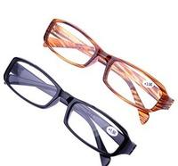 (20pcs/lot) Plastic reading glasses men black/brown resin reading glasses