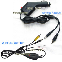 Free Shipping+ 2.4G wireless car camera video transmitter and receiver with car power adapter (very easy for installation)