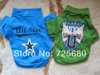 2 PCS (BLUE+GREEN) Small Pet Dog CAT PUPPY Clothes T Shirt Vest Type XS S M L