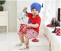 Free shipping 2013 new korean discount supreme clothing,korean children clothing wholesale,baby boy gift set