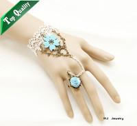 WS-72 Lace Japan PU leather sakura Bracelets jewelry accessory wholesale Vintage Gothic vampire fashion bracelet jewelery stock