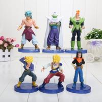 (6pcs/set) Free Shipping Dragon ball z figures 11th Goku figure chidren toy Christmas gift
