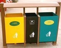 metal trash bins 1200*400*1000MM,steel with zinc coating and painting