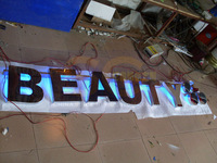 customized 3D channel letters stainless steel led halo backlit sign letters led lighting