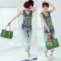 Korean Women's Canvas Shoulder Bag Retro Funny Travel Handbag Lady NEW Satchel bag KB0030