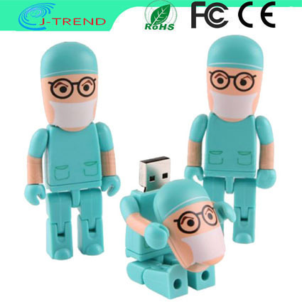 2GB 4GB 6GB 8GB 16GB 32GB Free Shipping Promotional Gift Plastic Doctor 8GB USB Flash Memory Pen Drive(China (Mainland))