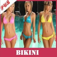 Sexy Women String Swimsuit Bikini Swimwear Swim Dress Split Beachwear 50pcs Free Shipping