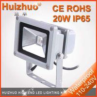 [Hui zhuo lighting]Free shipping via fedex Waterproof IP65 20W floodlight led floodlight,silver outdoor floodlighting