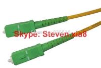 Free shipping, Optical Fiber Patch Cord SC/APC-SC/APC SM Simplex  LSZH 3.0mm 15M  Fiber Optic Jumper