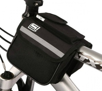 Free shipping Bike Bicycle Cycling Front Tube Bag Frame Double bag Pannier Package Pouch 15*6*11CM