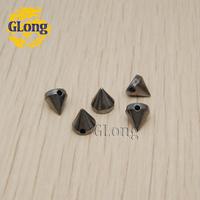 6*6mm Sewing Spikes Black Plastic Punk Rock leathercraft DIY Rivet/wholesale/Free Shipping 200pcs/lot GP006-6B