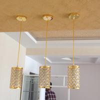 Small size Crystal & Polished Chrome Pendant Lamp Free Shipping Modern Dining Room Uniqlo Lamp Corrider Hallway Pendant light