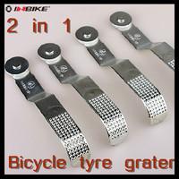 Free Shipping 2-Function Bike Bicycle Tyre Grater Repairing Tool Riding Equipment-(Grater + Press Wheel)